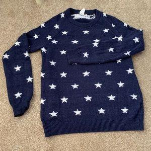 H&M Star ⭐️ Print Navy Sweater